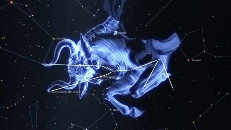 como ver constelacion de tauro